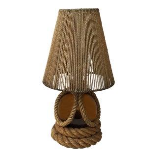 1960 Large Rope Lamp Audoux Minet For Sale