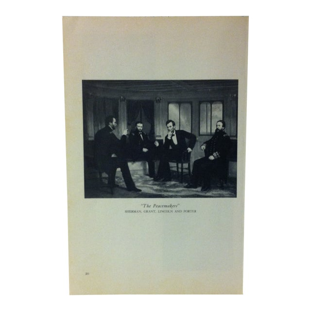 """1954 """"The Peacemakers"""" Famous Figure of the 19th Century Print For Sale"""