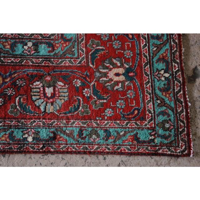 Vintage Hand-Woven Persian Tabriz Rug - 9′10″ × 12′5″ - Image 7 of 8