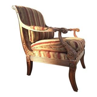 Ethan Allen Fairfax Striped Velvet Throne Chair