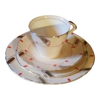 Myott Son & Co. Mid-Century Modern Tea Service - 4 Pc. Set For Sale