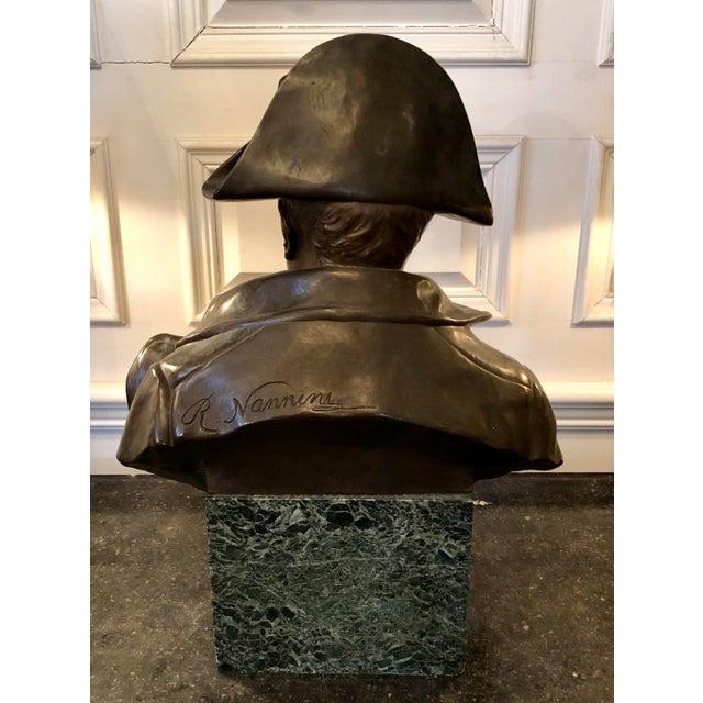 Late 19th Century Antique Rafael Nannini Bronze Bust of Napoleon I Sculpture For Sale In Minneapolis - Image 6 of 10