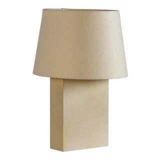 Chic 'Bloc' Parchment Table Lamp by Design Frères For Sale
