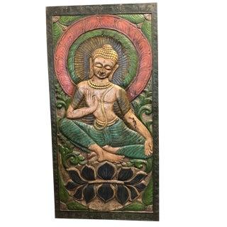 1990s Vintage Buddhism Buddha Wall Panel For Sale