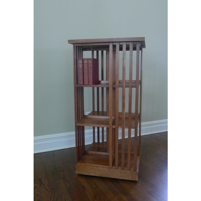 Stickley Mission Cherry Revolving Bookcase - Image 3 of 6