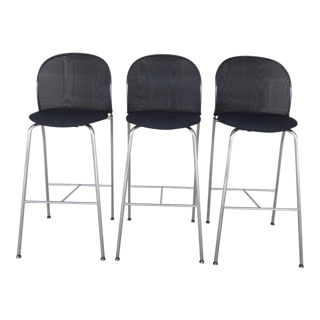 Christoph Hindermann Design for Davis Furniture Modern Bar Stools - Set of 3 - Image 1 of 10