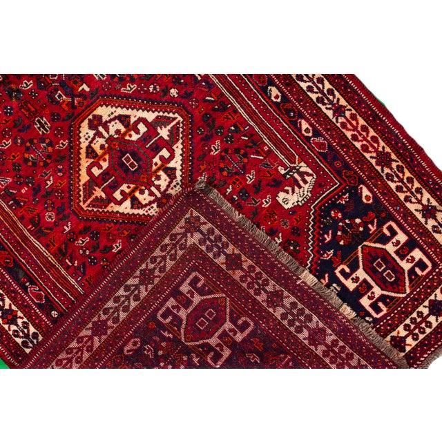 "Vintage Persian Shiraz Rug, 5'10"" X 8'7"" For Sale - Image 4 of 9"