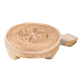 Nepalese Carved Lotus Chakla Stand For Sale