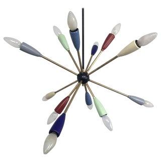 1950s Sputnik Pendant Chandelier Lamp in Different Colors For Sale