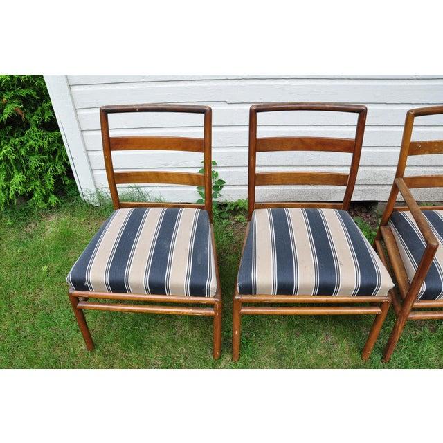 T.H. Robsjohn Gibbings 1950s Mid-Century Modern t.h. Robsjohn-Gibbings for Widdicomb Dining Chairs - Set of 6 For Sale - Image 4 of 13