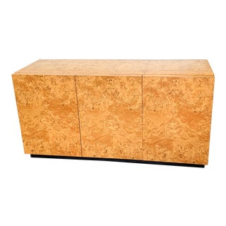 Milo Baughman Burl Wood Credenza or Buffet For Sale