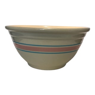 Vintage McCoy Pink & Aqua Bowl For Sale