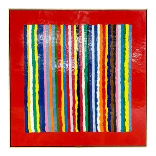 John O'Hara. Sardinia, Red Encaustic Painting For Sale