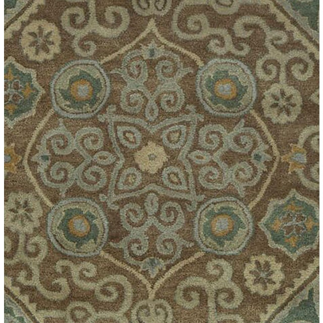 Hand Tufted Brown Wool & Cotton Victoria Rug - 8′ × 10′ - Image 3 of 4