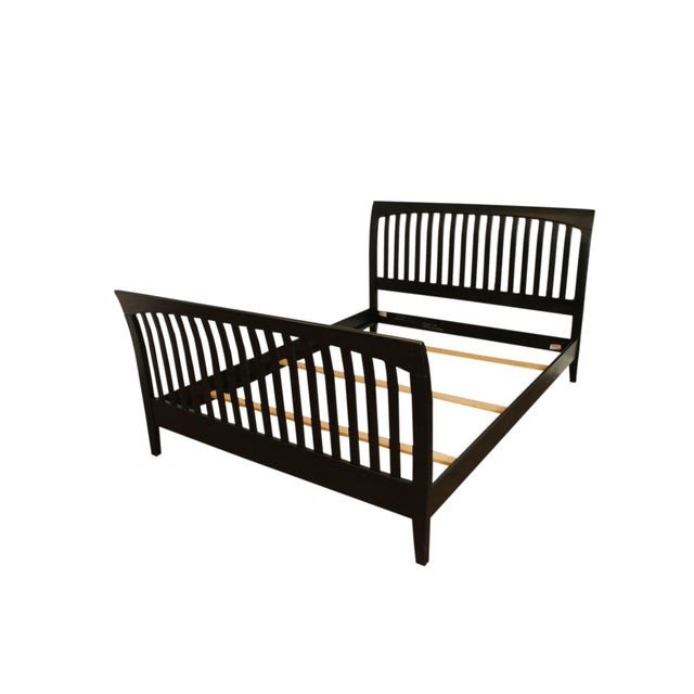 Ethan Allen American Impressions Queen Size Black Sleigh Bed For Sale - Image 13 of 13