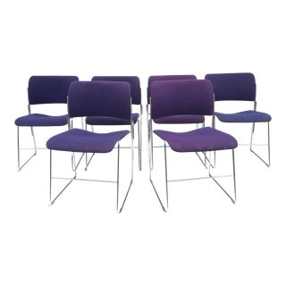 Set of Six Mid-Century Chairs in the Style of David Rowland For Sale
