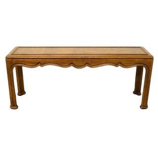 """Henredon Country French Regency Parquet Top 65"""" Sofa Table For Sale"""