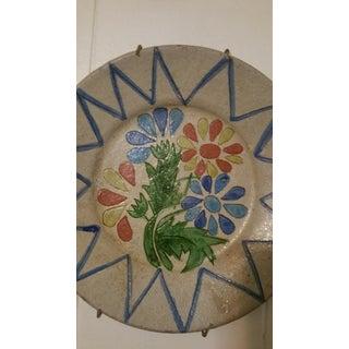 Vintage Decorative Portuguese Floral Plate Preview