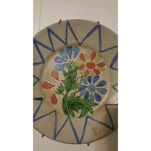 Vintage Decorative Portuguese Floral Plate - Image 2 of 7