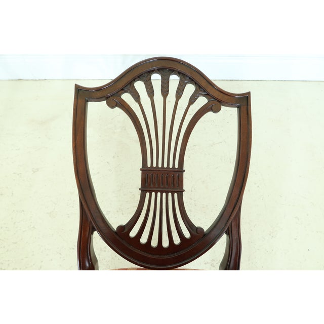 Brown Stickley Shield Back Mahogany Dining Room Chairs - Set of 6 For Sale - Image 8 of 13