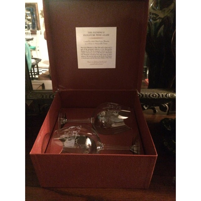 The Fleming's (famed Fleming's Steakhouse founded in New Port Beach California) signature Wine Glass created by the...