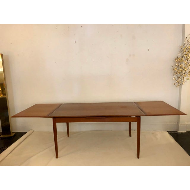 Teak Dining Extension Table by Niels Moller For Sale In San Antonio - Image 6 of 10