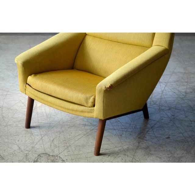 Folke Ohlsson Folke Ohlsson 1950s Mid-Century Danish Teak Lounge Chair for Fritz Hansen For Sale - Image 4 of 10