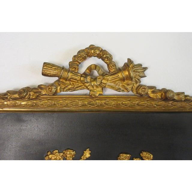1950s French Brass Classical Small Trumeau Mirror For Sale In New York - Image 6 of 11