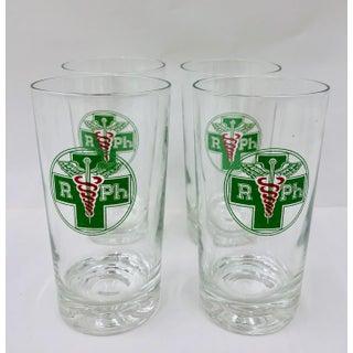 Set Vintage Medical Cocktail Glasses Preview