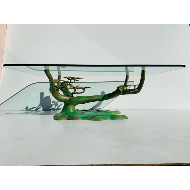 Willy Daro Brass Bonsai Tree Coffee Table Base For Sale - Image 13 of 13
