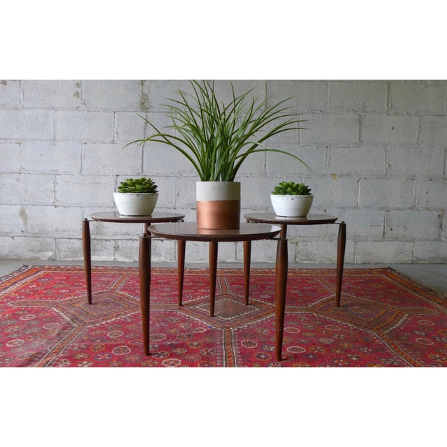 Mid Century Modern Stackable Plant Stands, Set/3 For Sale - Image 4 of 8