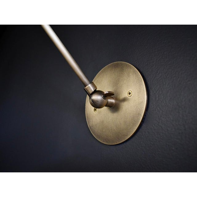 Blueprint Lighting Cannula Modern Bronze Wall Lamp or Sconce by Blueprint Lighting For Sale - Image 4 of 7