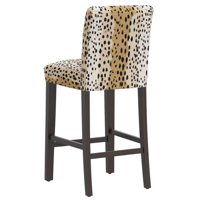 Bar stool in Linen Leopard Caramel For Sale - Image 4 of 8