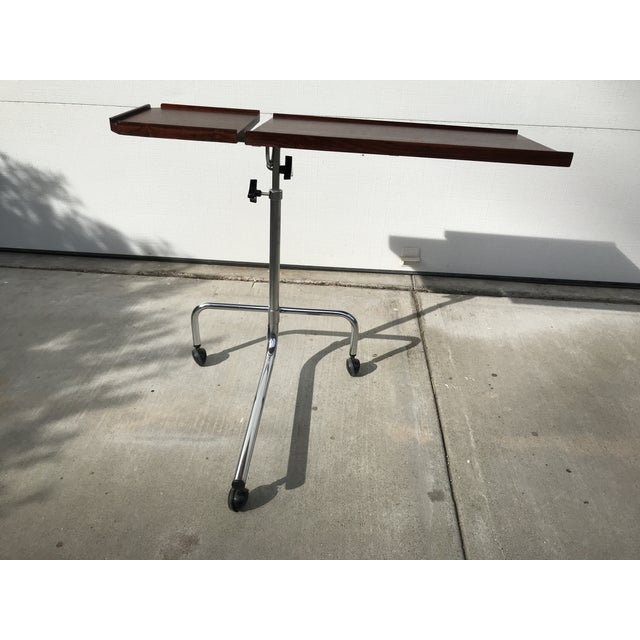 Red Danish Rosewood Adjustable Service Cart For Sale - Image 8 of 9