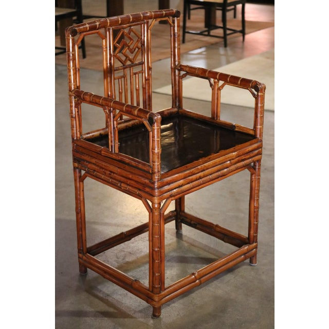Bamboo Armchair, Shanxi Province, China, Late 18th Century For Sale - Image 4 of 7