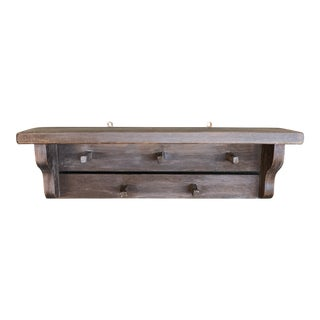 Early 20th Century Pegged Wood Coatrack For Sale