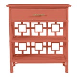 Image of David Francis Furniture for Chairish Soba End Table, Baked Terra Cotta For Sale