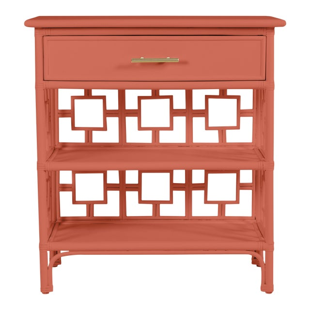 David Francis Furniture for Chairish Soba End Table, Baked Terra Cotta For Sale