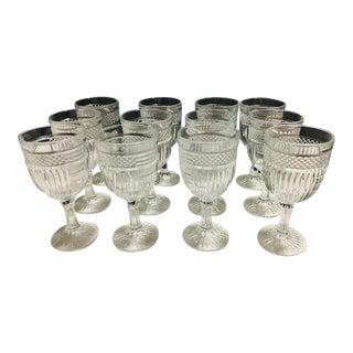 Vintage Libbey Radiant Drinking Glasses - Set of 12 For Sale