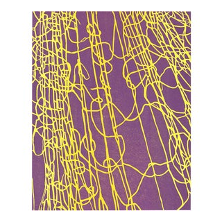 "2010s Abstract Original Woodblock Print on Paper, ""Ghost Nets Ii"" by Noémie Jennifer For Sale"