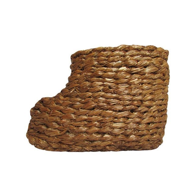 """1940s WWII """"Strohschuhe"""" Hand-Braided Snow Over Boots - a Pair For Sale - Image 5 of 5"""