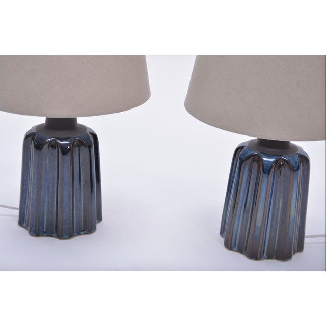 Danish Modern Ceramic Table Lamps by Soholm Stentoj, 1970s - a Pair For Sale - Image 3 of 7