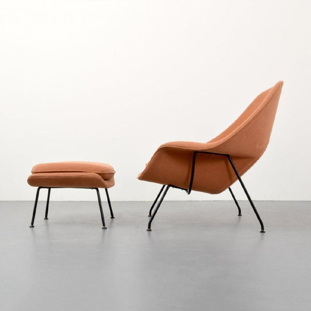 Eero Saarinen Womb Lounge Chair and Ottoman, Usa, 1960s For Sale In Miami - Image 6 of 8