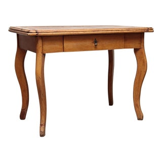 1930s Antique French Carved Leg Flip-Top Game Table For Sale