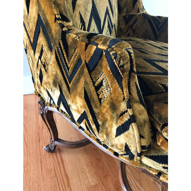 Chevron Wingback Accent Arm Chair - Image 5 of 11