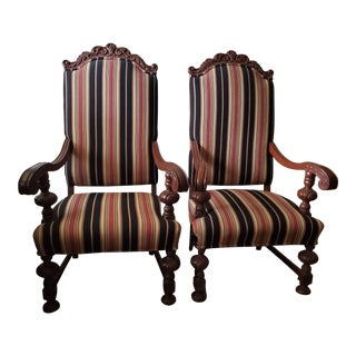 Antique Throne Chairs From Granada Theater - A Pair For Sale