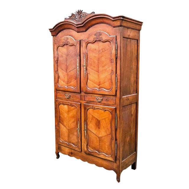 Louis XV Period Rennaise Cherrywood Armoire For Sale