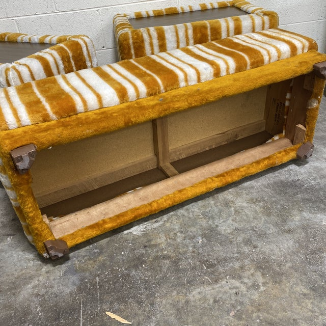 Groovy 70s Carpeted Tables Bench Set - a Set of 3 For Sale In Richmond - Image 6 of 12