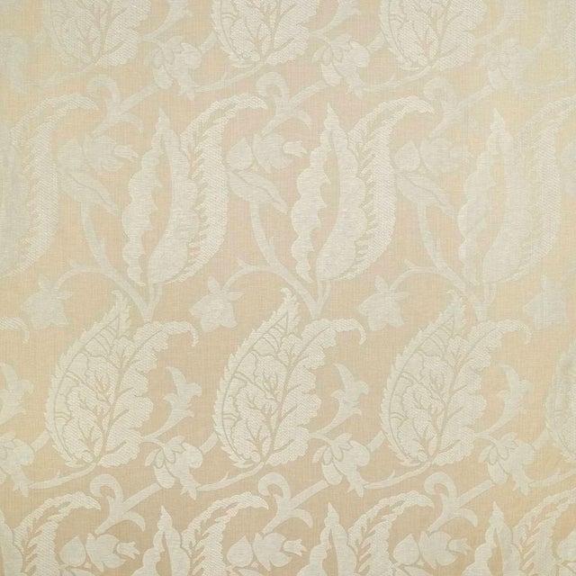 Sample, Suzanne Tucker Home Jacqueline Linen Blend Jacquard in Sand For Sale