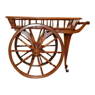 French Wooden Wine Cart